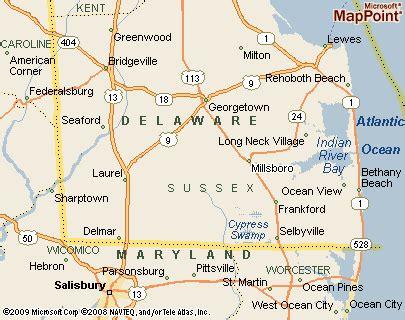 Millsboro, Delaware Area Map & More