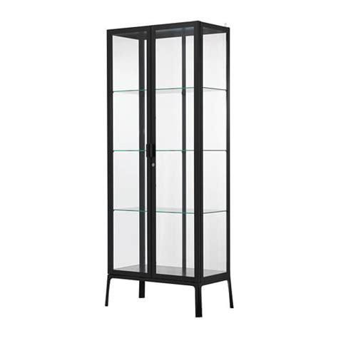 MILSBO Glass door cabinet   anthracite   IKEA