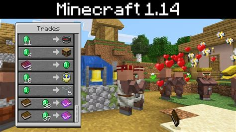 Minecraft 1.14   Villager Changes   Jobs, Schedules ...
