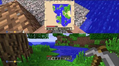 Minecraft Xbox 360 gameplay   Jugando a pantalla partida ...
