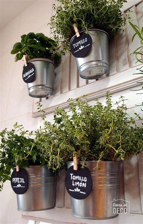 mini jardín de aromáticas en la cocina   Piensa en Deco