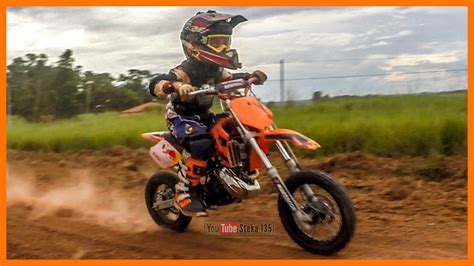 MINI MOTO A GASOLINA DE TRILHA OU MOTOCROSS   KTM 50 SX ...