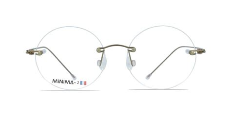 MiNiMA 5 Round / Pantos Copper/brown Prescription Rimless ...
