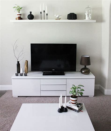 Minimalist TV Stand and Cabinet IKEA Besta | Minimalist ...