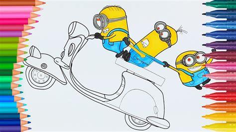 Minions | Cómo dibujar y colorear | Dibujos para colorear ...
