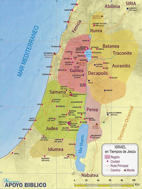 Ministerio APOYO BÍBLICO: MAPA DE ISRAEL SIGLO I