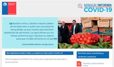 Ministerio de Agricultura lanza plataforma con ...