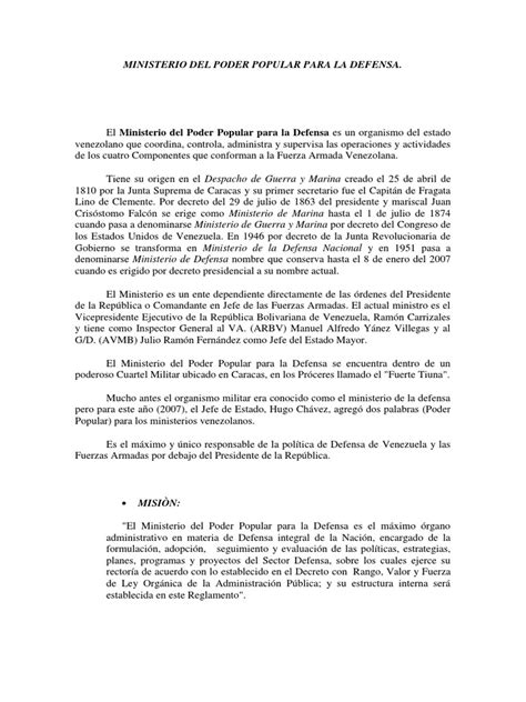 Ministerio Del Poder Popular Para La Defensa | Oficial ...