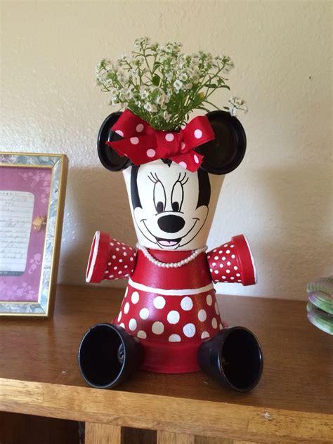 Minnie | Macetas pintadas, Maceteros artesanales, Macetas ...