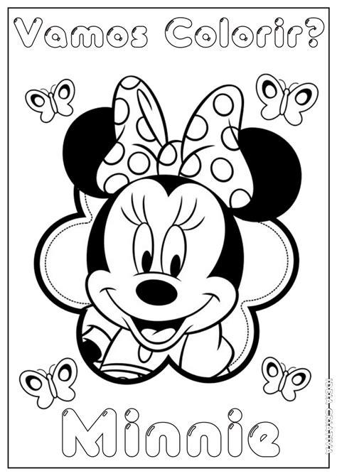 Minnie para dibujar pintar colorear e imprimir   colorearrr