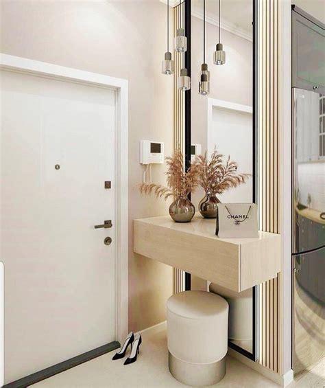 Mirror with shelf   Muebles para vestíbulo, Decoración de ...