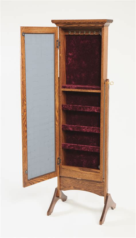Mirrored Jewelry Armoire | Amish Valley Products