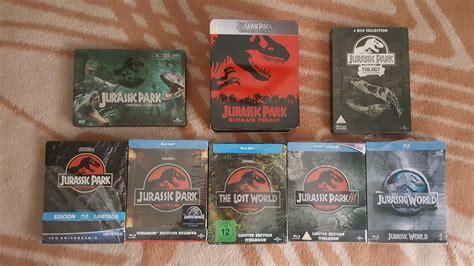 Mis Steelbooks de la saga Jurassic Park  Parque Jurasico