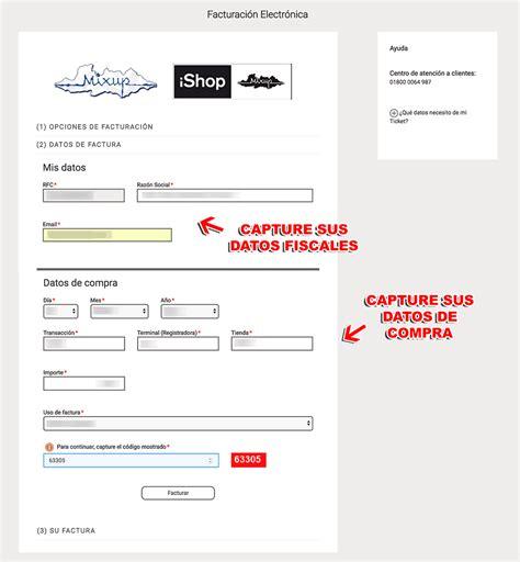 Mixup Facturación Facturar Ticket   Descargar XML