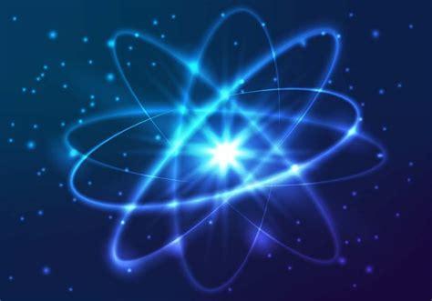Modello di Atomo di luci al neon splendente vettoriale ...