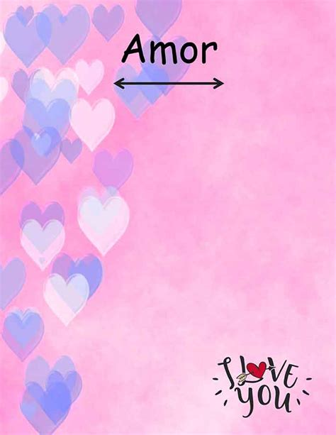 Modelo de Carta de Amor para Imprimir Gratis   Diseño ...