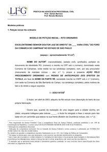 Modelo de petição LFG   Estágio Supervisionado I
