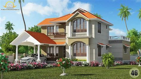 modelo pintura exterior casas verde techos rojos   Buscar ...