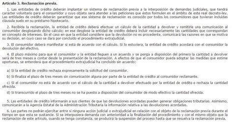 Modelo Reclamacion Clausula Suelo Banco De Espana. Banco ...