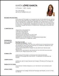 Modelos De Curriculum Vitae Juveniles | Modelos de ...