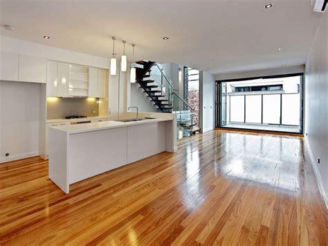 Modern kitchen living kitchen design using floorboards ...