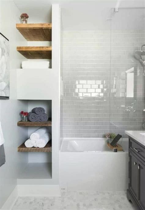 Modern Small Bathroom Trends in 2019 | Bathroom shelves ...