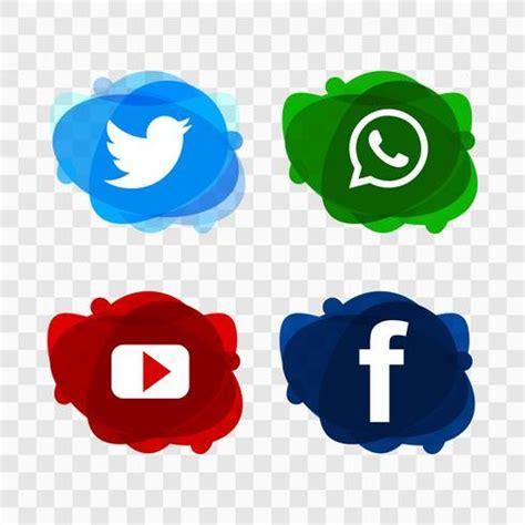 Modern social media icons vector design de conjunto ...