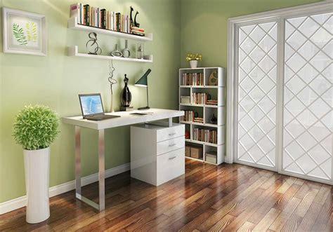 Modern White Gloss Office desk SJ18 | Desks