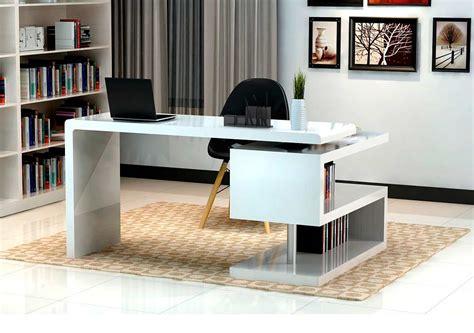 Modern White Gloss Office desk SJ33 | Desks
