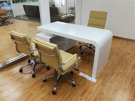 Modern white office furniture boss office table made in China