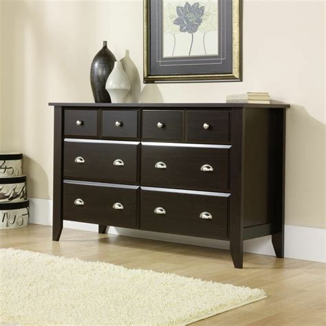 Modern Wooden 6 Drawer Dresser Wood Bedroom Classic ...