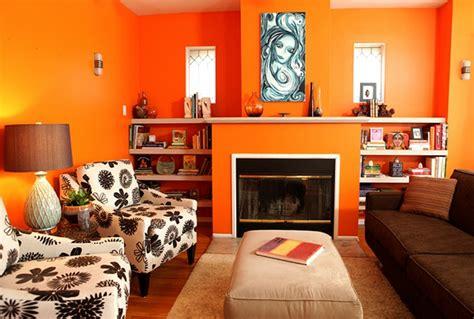 Moderne orange Farbgestaltung im Wohnzimmer?   Archzine.net
