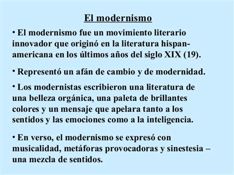 Modernismo y  A roosevelt