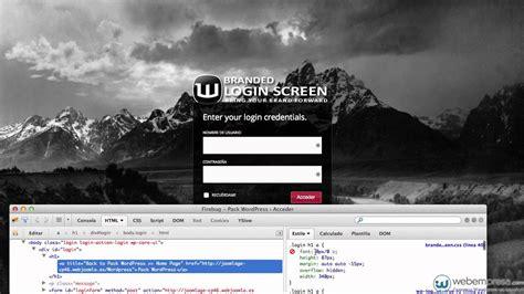 Modificar el panel de acceso de WordPress con Branded ...