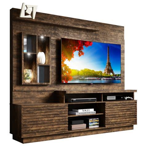 Modular Mueble Tv Led Lcd 65 Pulgadas Rack Melamina Eldorado