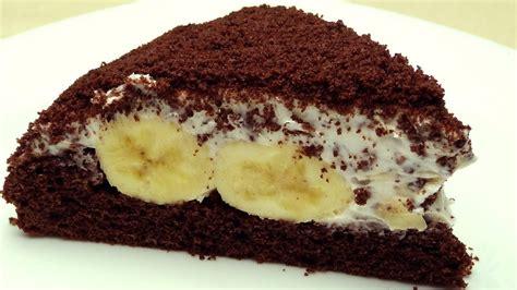 Mole Cake Recipe   Cake with Banana and Chocolate   YouTube