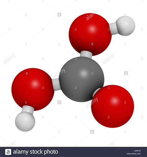 Molécula de ácido carbónico. Se formó cuando el dióxido de ...