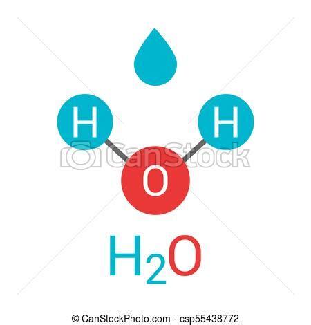 Molécula de agua h2o. ilustración de vectores.