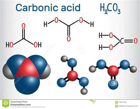 Molécula Del ácido Carbónico H2CO3 Es También Solución Del ...