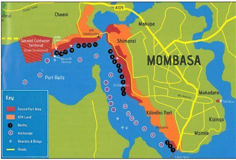 Mombasa Kenya map   Map of mombasa Kenya  Eastern Africa ...