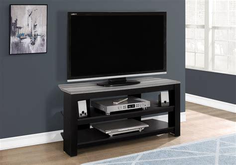 Monarch Specialties I 2564 Tv Stand 42 L Black Grey Top ...