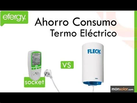 Monitor efergy Socket ejemplo termo eléctrico   YouTube