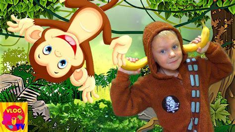 Monkey Banana Dance / Baby Monkey Animals / Nursery Rhymes ...