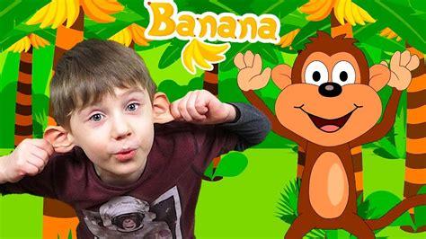 Monkey Banana Dance   Baby Monkey   Dance Along   Yegorka ...