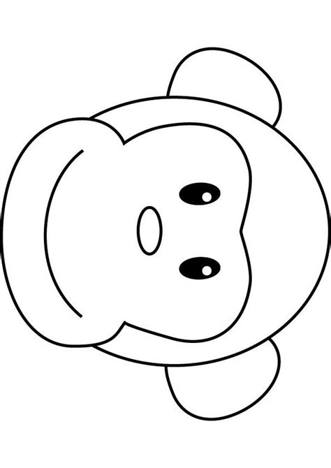 monkeys drawings   Bongo Monkey coloring drawing.   Cross ...