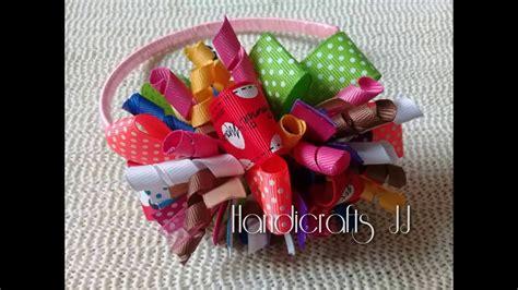 Moño de listón moderno para niñas / ribbon bows   YouTube