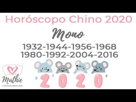 Mono Horoscopo Chino 2020 Rata de Metal Tarot Guia ...