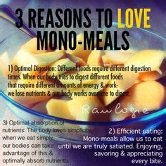 MONO MEALS   simple eating for the digestive system