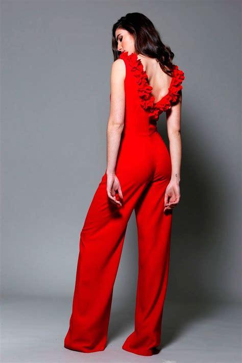 Mono rojo Escote Espalda Rhodes | ROJOS | Trajes de moda ...