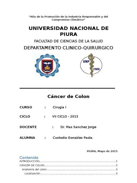 Monografia Cancer de Colon   Sigmoides | Cáncer ...